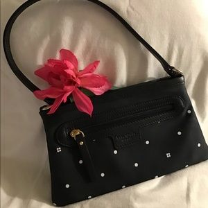 KATE SPADE VINTAGE Black/White Polka Dot Purse